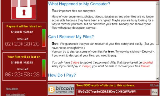 WANNACRY: En skjermdump viser et av Wannacry-angrepene i mai i år. Foto: Symantec / REUTERS / NTB scanpix