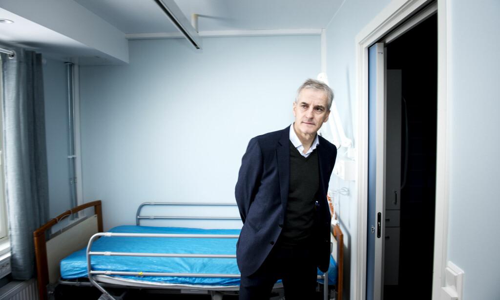 FLERE ELDRE: - Testen på vårt velferdssamfunn er om vi vil klare å møte eldrebølgen med omsorg og kvalitet, sier Jonas Gahr Støre. Foto: John-Terje Pedersen.