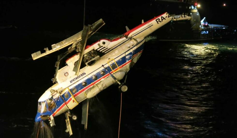 ÅTTE DØDE: Dette russiske flyet styrtet utenfor Barentsburg i Svalbard 4. november. Åtte personer døde. Foto: Statens Havarikommisjon for transport