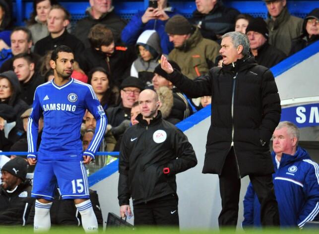 FIKK IKKE VIST SEG FRAM: Mohamed Salah sleit med spilletid under José Mourinho. Foto: AFP PHOTO / GLYN KIRK / NTB Scanpix
