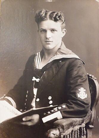 STANDHAFTIG: Tyske Richard Wiebach drømte om å utdanne seg som maskiningeniør. Da første verdenskrig brøt ut måtte han avbryte studiene for å kjempe for Tyskland i marinen. Dette skulle siden føre ham til Norge, hvor han stiftet familie. Foto: Privat