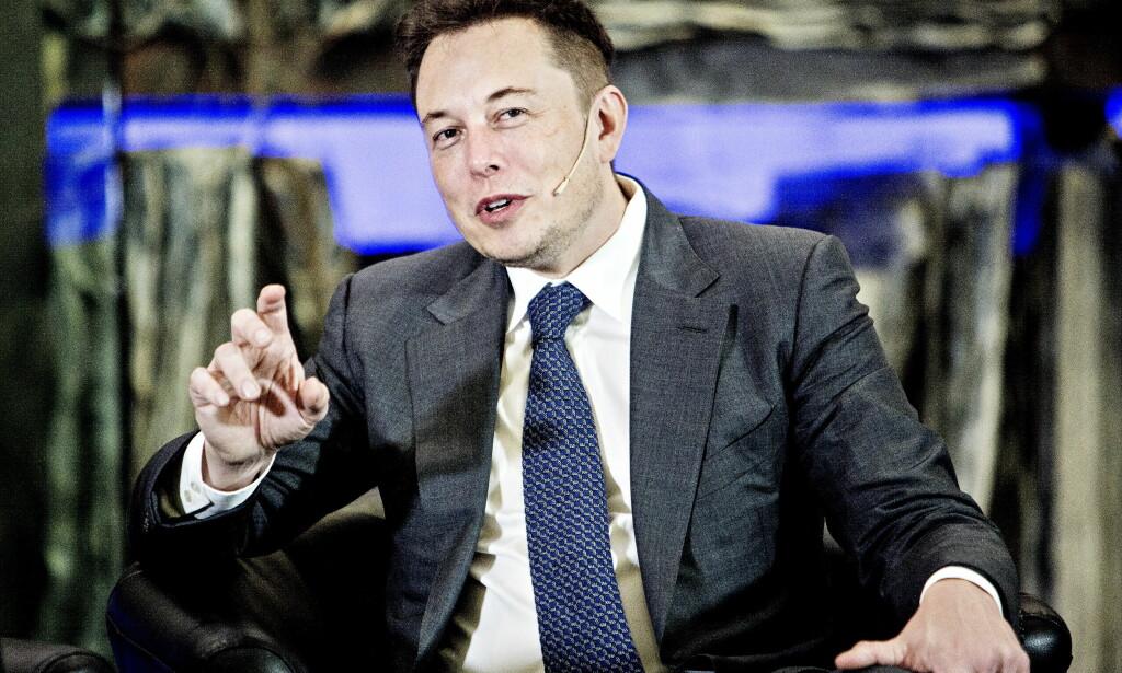 MÅTTE NEKTE: Den sørafrikanske oppfinneren Elon Musk måtte nekte for at han er bitcoin-skaperen etter spekulasjoner fra en tidligere ansatt i rakettfirmaet hans SpaceX. Foto: Nina Hansen / Dagbladet