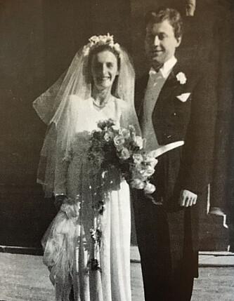 MØTTES PÅ FJELLET: Freddie og Folkvard møttes da de begge to flyktet til Sverige under andre verdenskrig. Fem år senere giftet de seg i Nidarosdomen i Trondheim. Foto: Privat