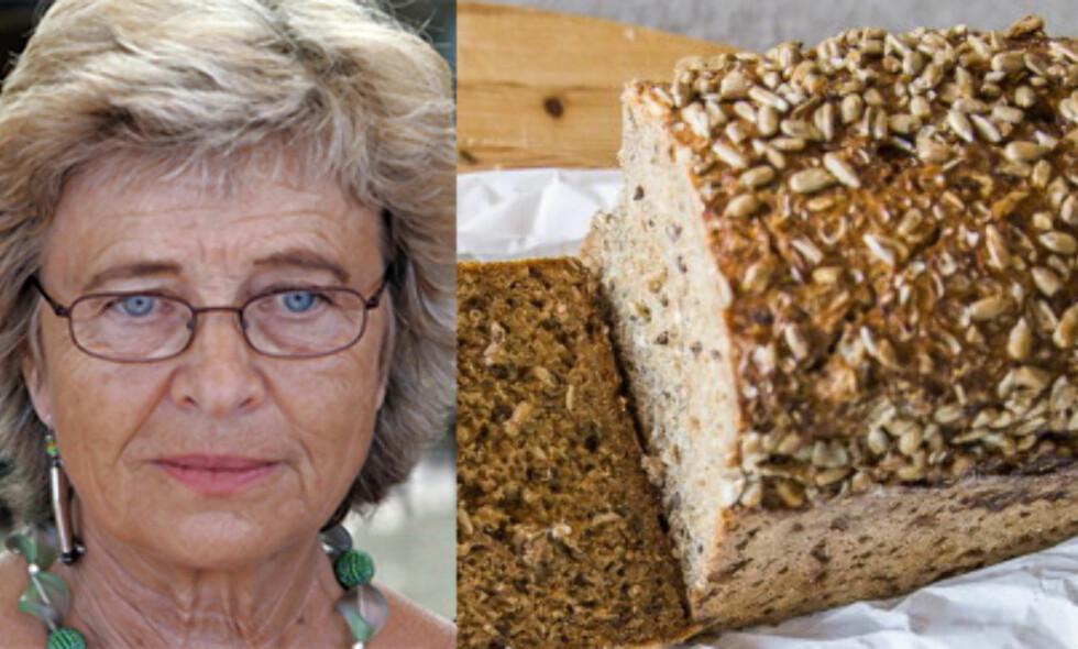 ANBEFALING: Professor Wenche Frølich er ikke i tvil om hvilken type brød som er best å spise - for helsas skyld: foto: Endre Vellene