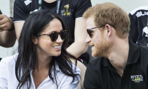 VISTE SEG SAMMEN: Meghan og Harry viste seg sammen for første gang under Invictus Games tidligere i år. Foto: Pa Photos