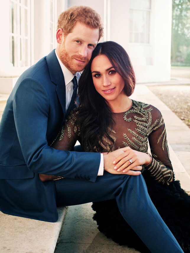 OFFISIELLE FORLOVELSESBILDER: Prins Harry og Meghan Markle annonserte forlovelsen sin i november. Tidligere denne måneden slapp Kensington Palace offisielle bilder av paret. Foto: NTB scanpix