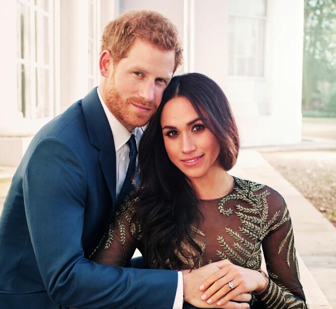 VENTER BARN: Hertuginne Meghan og prins Harry venter sitt første barn i slutten av april: Foto: NTB Scanpix