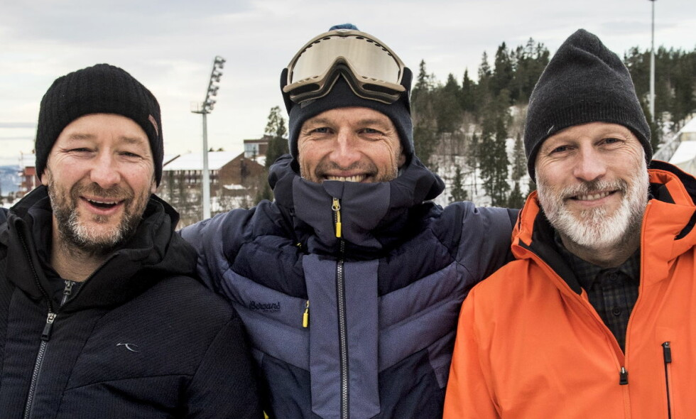 OL-EKSPERTER: Kjetil André Aamodt, Lasse Kjus og Tom Stiansen. Her fra Holmenkollen tidligere i vinter. Foto: Lars Eivind Bones / Dagbladet