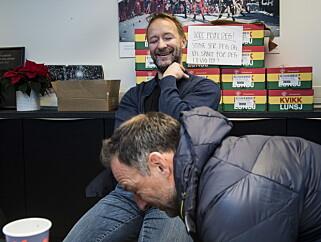 LYSTIG LAG: Kjetil André Aamodt og Tom Stiansen. Foto: Lars Eivind Bones / Dagbladet