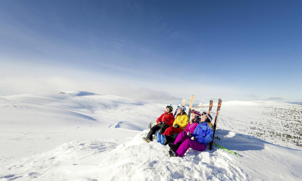 VINTER-NORGE: Alle skianleggene rundt om i landet går for fullt. Det er bare å finne fram skiene og komme seg ut. Foto: Ola Matsson