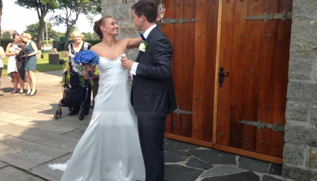 <strong>GIFT:</strong> Camilla og Steffen giftet seg i 2013. Nå venter de sitt første barn sammen. Foto: Cathrine Løkken / Se og Hør