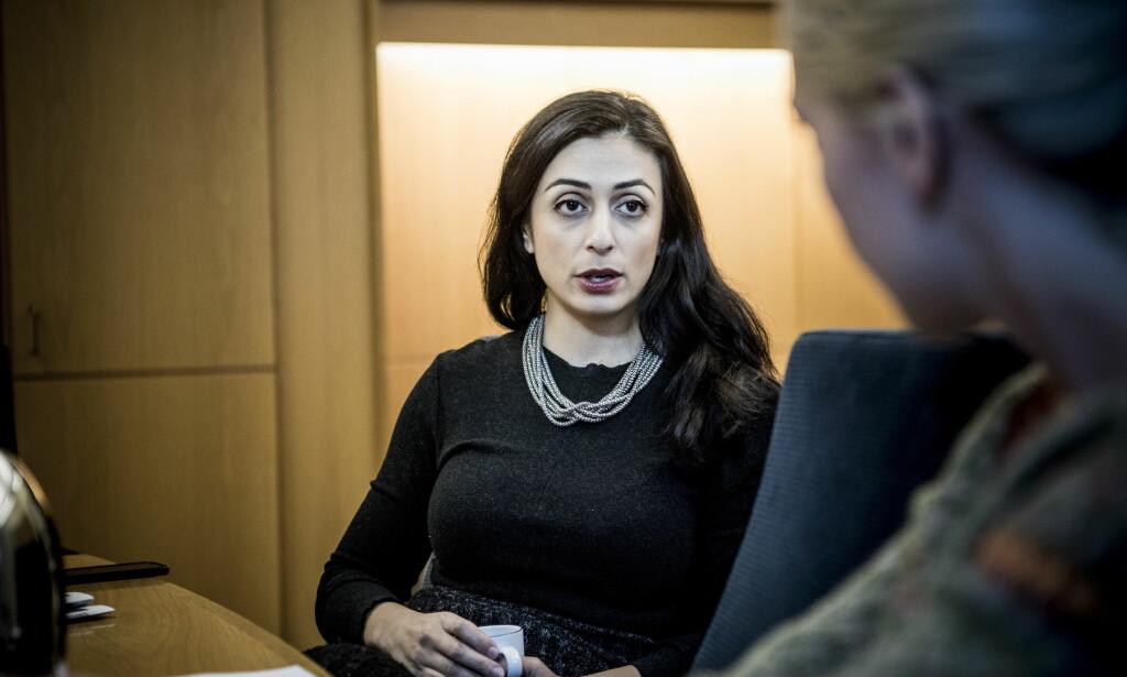 - RYSTENDE: Hadia Tajik ble kontaktet av Giske-varslere, og sier at det var rystende lesnin.. Foto: Christian Roth Christensen / Dagbladet