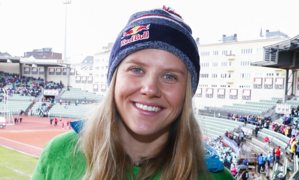 <strong>PÅ PALLEN:</strong> Tiril Sjåstad Christiansen kom på tredjeplass etter hennes første verdenscupkonkurranse siden et skadeavbrekk. Foto: Terje Pedersen / NTB scanpix