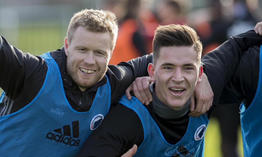 <strong>SOLGT:</strong> Benjamin Verbic er klar for Dinamo Kiev. Her sammen med Tom Høgli, som skal spille for Tromsø neste sesong. Foto: Vidar Ruud / NTB scanpix