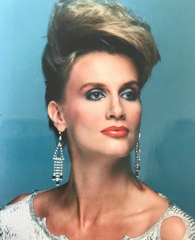 MODELL: Gunilla Persson gjorde det stort som modell i sin ungdom. Det var det som i utgangspunktet bragte henne til USA. Foto: Privat