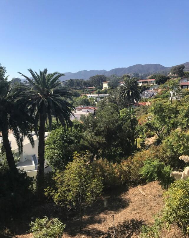 LYX: Gunilla har sendt inn dette bildet av utsikten fra sitt eget hus. Foto: Privat