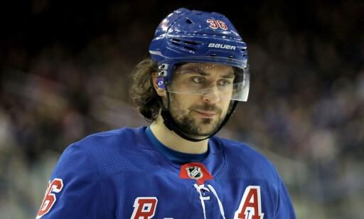 TØFFE TIDER: Mats Zuccarello har tøffe tider i New York Rangers. Foto: Abbie Parr/Getty Images/AFP