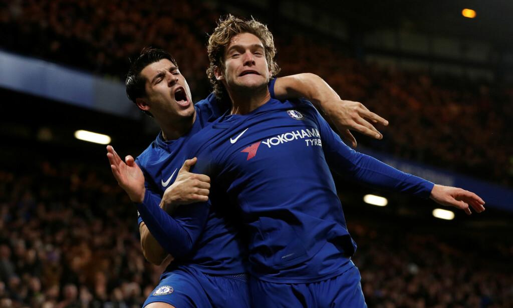 DRØMMEDUO: Alvaro Morata og Marcos Alonso fikset Chelsea-seier. Foto: Reuters/John Sibley