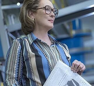 KAY GRAHAM: Meryl Streep i rollen som Katharine Graham, avisutgiveren og redaktøren som ledet The Washington Post fra 1963 til 2013. Foto: 20th Century Fox / Nico Tavernise