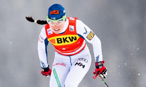 PÄRMÄKOSKI MOT NORGE: Krista Pärmäkoski er de norske kvinnenes største utfordrer i årets tourutgave. Foto: Jon Olav Nesvold / Bildbyrån
