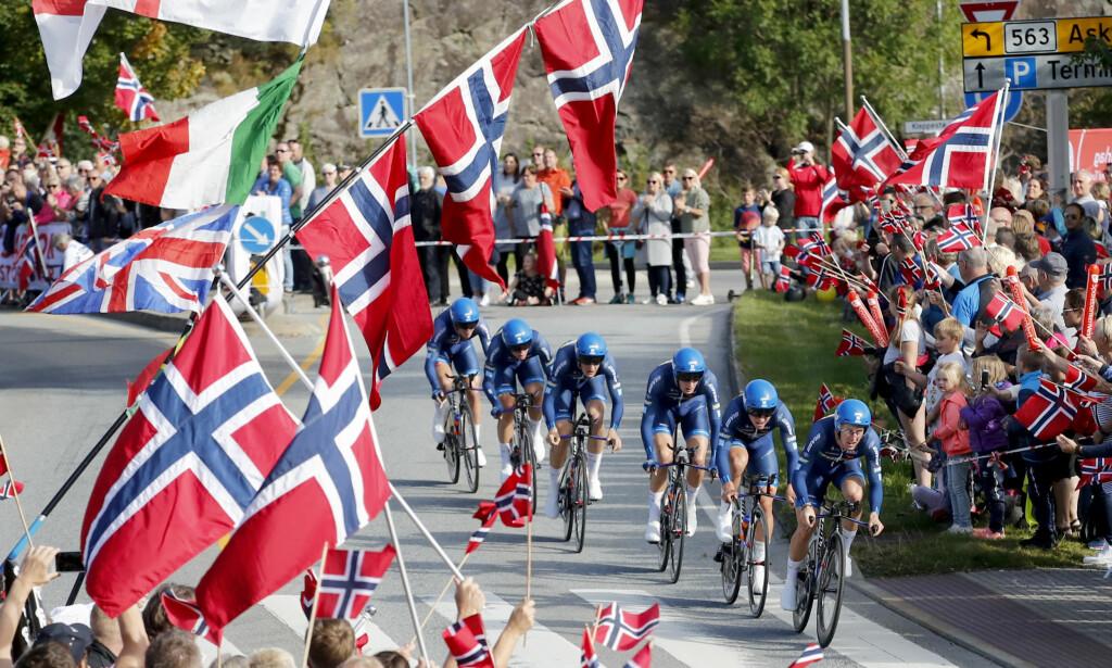 SUKSESS: Men tallene ble likevel blodrøde. Er VM-underskuddet nok til å skremme norske politikere unna Tour de France-drømmen? Foto: Cornelius Poppe / NTB scanpix