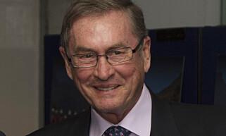 UFLAKS: Lord Michael Ashcrofts fly ble blåst inn i en kontorbygning onsdag. Foto: NTB scanpix