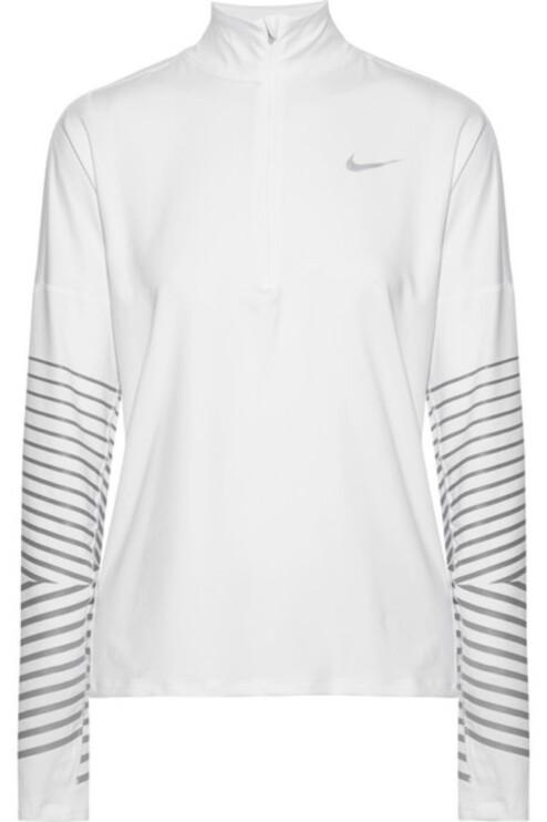 Genser fra Nike |1100,-| https://www.net-a-porter.com/no/en/product/943872/nike/flash-element-metallic-striped-dri-fit-stretch-top