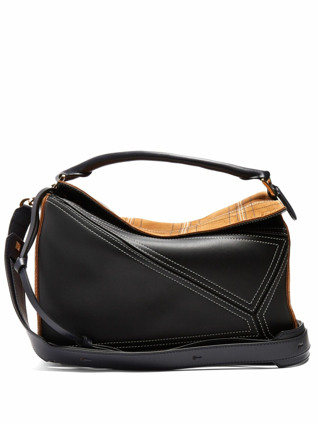 <strong>Veske fra Loewe |13200,-| https:</strong>//www.matchesfashion.com/intl/products/Loewe-Puzzle-contrast-panel-leather-and-suede-bag--1168845