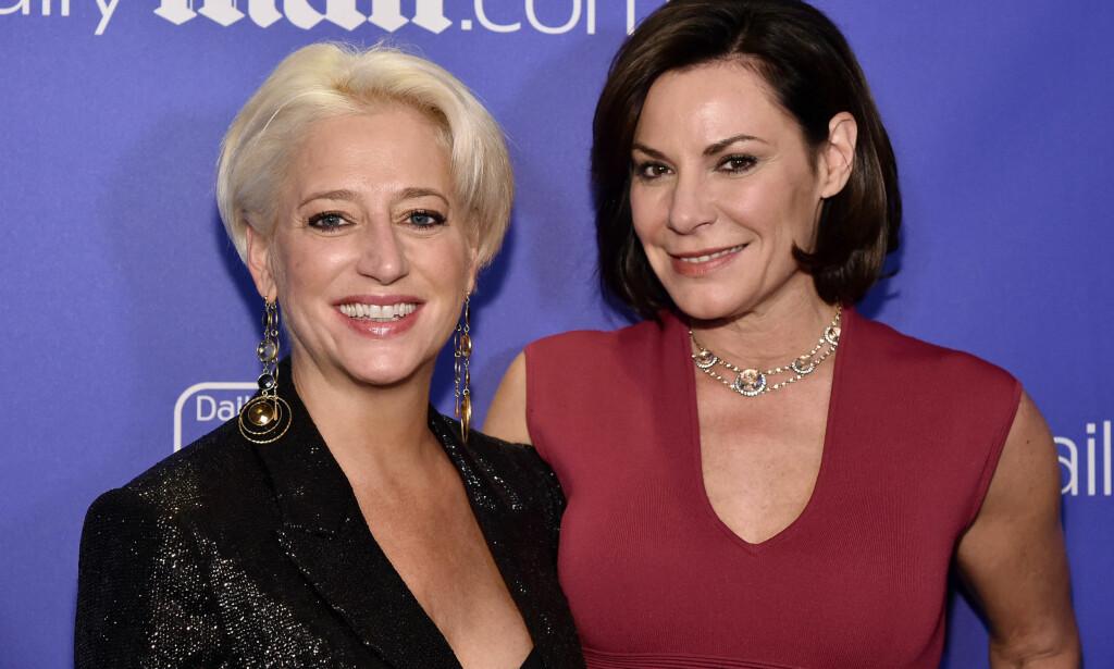 KOLLEGER: Dorinda Medley og Luann de Lesseps er begge blitt berømte som følge av sine opptredener i «The Real Housewives of New York City». Foto: NTB Scanpix