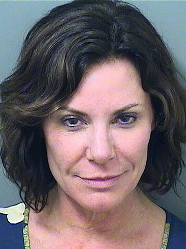 ARRESTASJONSBILDE: Luann de Lesseps ble arrestert i Palm Beach på julaften, etter fyllebråk på et hotell. Foto: NTB Scanpix