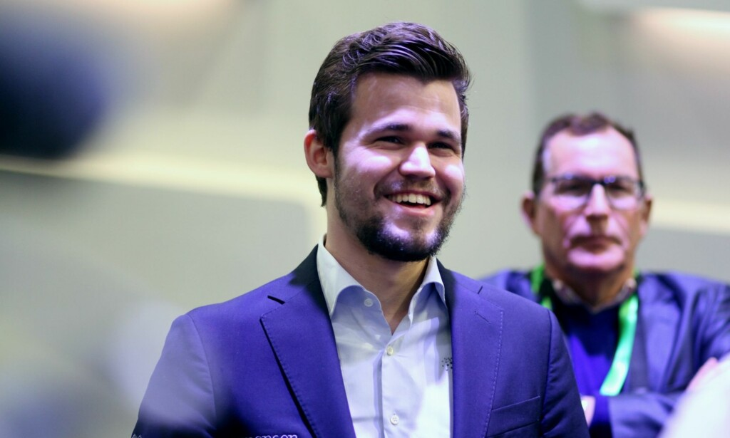 SEIER: Magnus Carlsen, her fra første dag fra lynsjakk-VM, er ny verdensmester i lynsjakk. Foto: Fide
