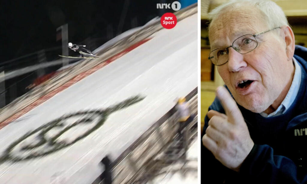 NEGATIV: Arne Scheie likte ikke at hopperne ble fulgt av et såkalt kabelkamera under rennet i Oberstdorf lørdag. Foto: NRK og Bjørn Langsem