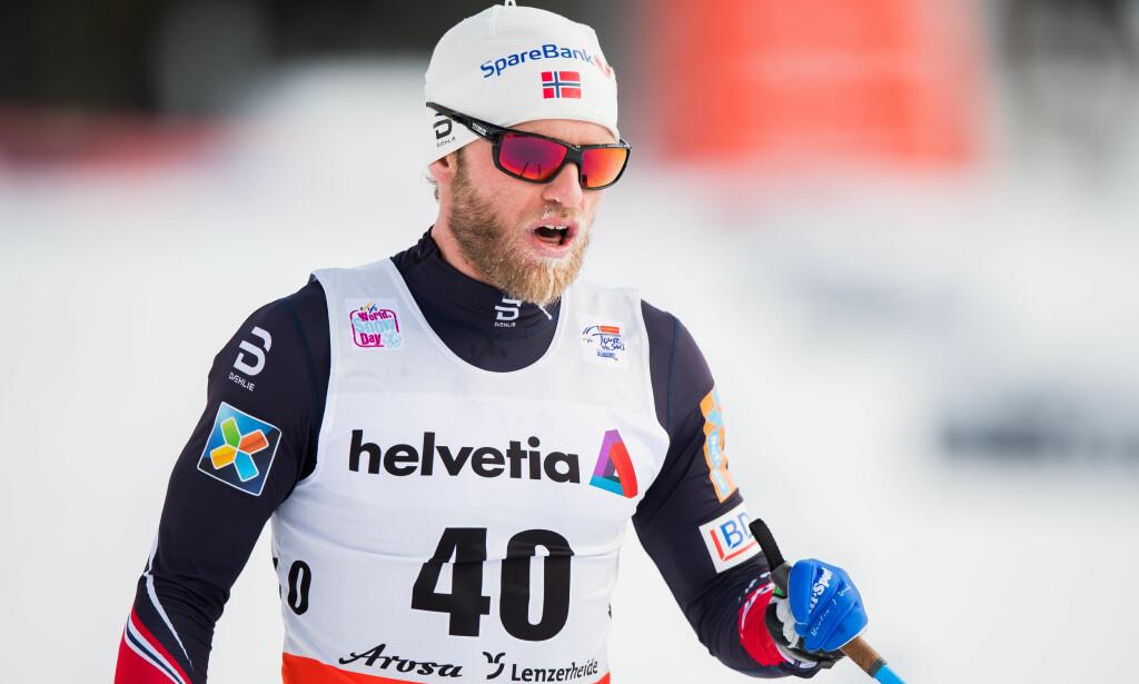LEVERTE GODT: Martin Johnsrud Sundby ble nummer tre på tourens andre etappe. Foto: Bildbyrån.