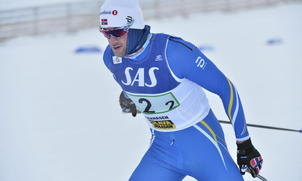 TILBAKE I MANESJEN: Petter Northug stilte til start i Granåsen i Strindheimstafetten. Foto: Ned Alley / NTB Scanpix