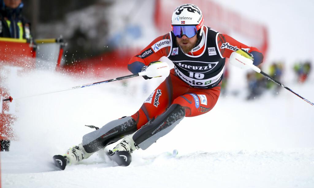 MESTERDUELL: Kjetil Jansrud er best i fartsdisiplinene. I dag møter han Marchel Hirscher til duell. Foto: NTB Scanpix