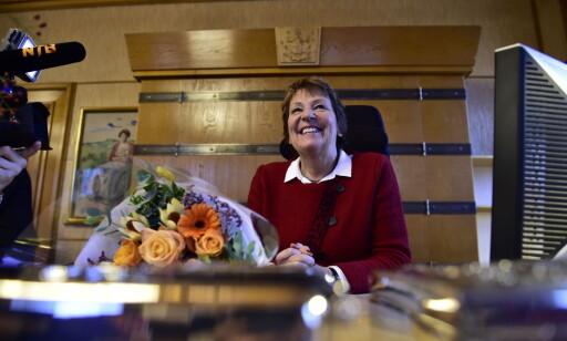 TAKKER: Ordfører i Oslo, Marianne Borgen (SV), er takknemmelig for de frivilliges innsats. Foto: Lars Eivind Bones / Dagbladet