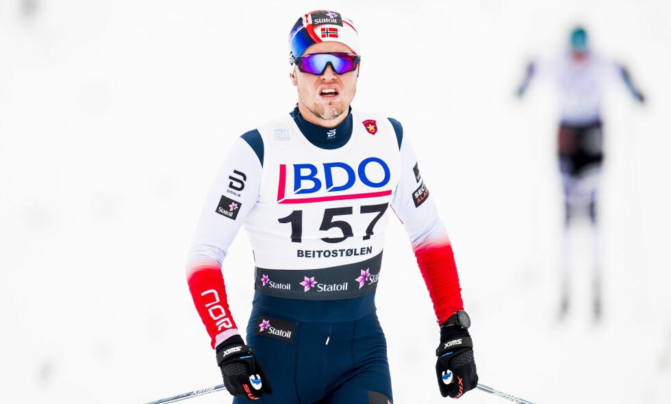 OL-AKTUELL: Daniel Stock har gått fort i OL-løypene før og var i følge Tor Arne Hetland mer kvalifisert enn Petter Northug for Tour de Ski. Med et strålende NM kan finnmarkingen gå seg inn i OL-troppen. Foto: Jon Olav Nesvold/Bildbyrån