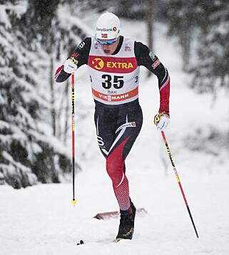 OUTSIDER: Martin Løwstrøm Nyenget var en av kandidatene til Tour de Ski, men må prestere voldsomt godt i NM om han skal ha håp om OL. Foto: Jon Olav Nesvold/Bildbyrån