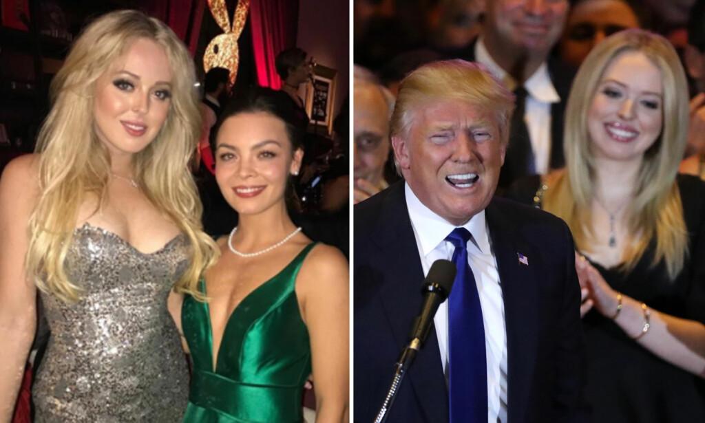 PÅ PLAYBOY-FEST: Tiffany Trump, den yngste datteren til USAs president Donald Trump, markerte overgangen fra 2017 til 2018 på en fest i regi av mannebladet Playboy. Foto: NTB scanpix