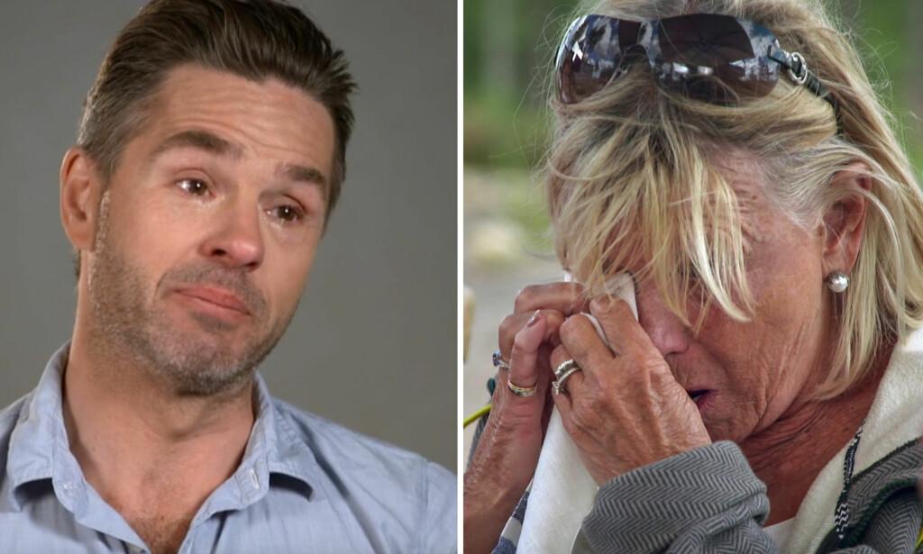 STERKT: Peter Jöbacks tøffe beretning får blant annet Ann-Louise Hanson til å ta til tårene. «Stjärnona på slottet»-episoden er tilgjengelig på SVT Play. Foto: SVT