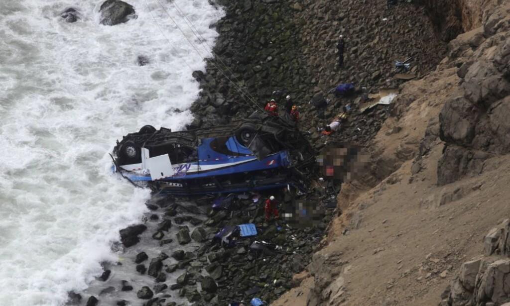 OMKOM: Minst 48 mennesker omkom i ulykken. Foto: REUTERS/Guadalupe Pardo