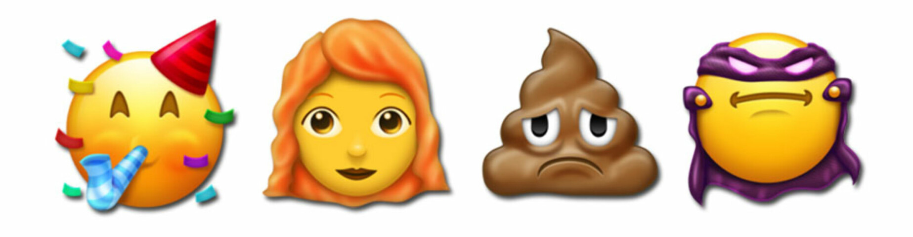 FERSKE EMOJIER: Disse fire er blant de nye emojiene kommer ut i løpet av året. FOTO: Skjermdump – Emojipedia