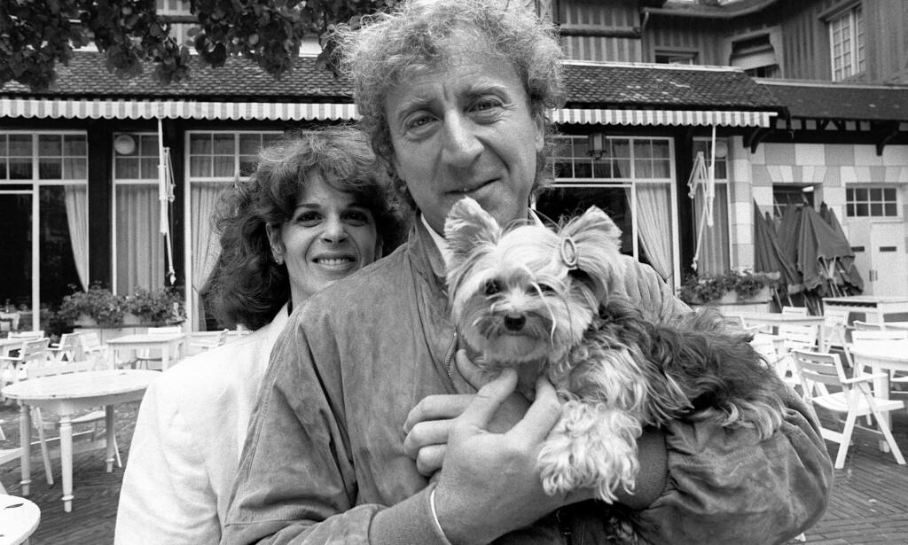 MISTET KONA: Gene Wilder sammen med daværende kone, Gilda Radner. De to fikk fem år som ektepar, før hun gikk bort som følge av eggstokkreft i 1989. Foto: NTB Scanpix