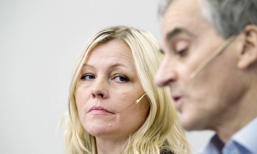 TAUS I GÅR: Partisekretær Kjersti Stenseng bryter tausheten og kommenterer i dag konklusjonene i Giske-saken. Foto: Henning Lillegård