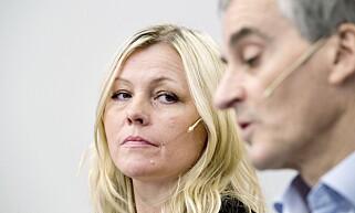KONFLIKT MED STENSENG: Amundsen oppgir konflikt med partisekretær Kjersti Stenseng som hovedårsaken til avgangen. Foto: Henning Lillegård / Dagbladet