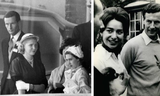 <strong>SOM TO DRÅPER VANN:</strong> Likheten mellom prinsesse Margaret (t.h. i venstre bildet) og Marie-Luce Jamagne er ekstrem! Prinsesse Margaret fikk dessverre aldri sitt livs kjærlighet, og etter at dronning Elizabeth slo fast at de ikke kunne gifte seg fordi han tidligere hadde vært gift, fridde han til den 26 år yngre belgiske kvinnen. Foto: NTB Scanpix