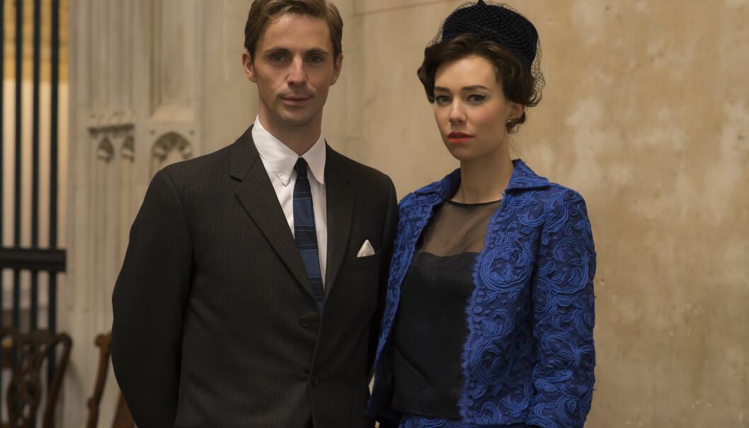 <strong>THE CROWN:</strong> I Netflix-serien spiller de britiske skuespillerne Vanessa Kirby og Matthew Goode ekteparet prinsesse Margaret og Antony Armstrong-Jones. Foto: Netflix