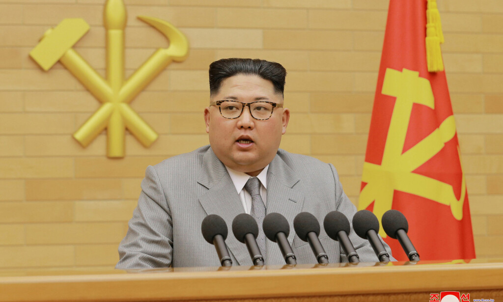 Dialog: Nord-Koreas leder, Kim Jong-un, åpnet i sin nyttårstale opp for å sende en delegasjon til vinter-OL i nabolandet i sør. Siden har de to landene tatt store steg mot å få startet en dialog. Foto: KCNA