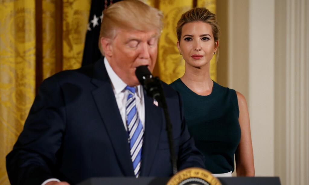 USAS FØRSTE KVINNELIGE PRESIDENT? Ivanka Trump, presidentens datter, ønsker å bli president en gang i framtida, ifølge ny bok. Foto: NTB scanpix