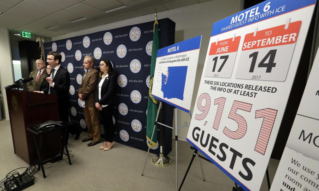 DELTE UT INFORMASJON: Asylagenter har sett navnene til over 9 000 motellgjester de siste to årene. Foto: NTB scanpix